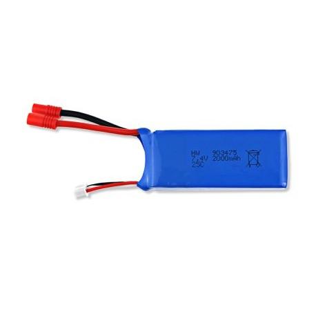 Bateria Lipo 7.4V 2000mAh 25C para Syma X8C X8W X8G