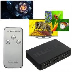Switch Hub  HDMI 3 para 1 c/ comando
