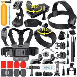 Kit de acessórios 36 em 1  para câmaras acção