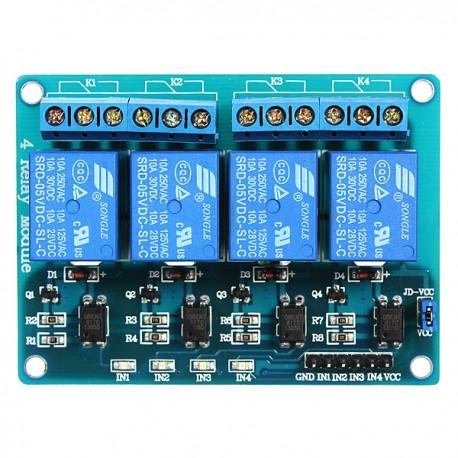 Módulo Relé 4 Canais 5V Arduino