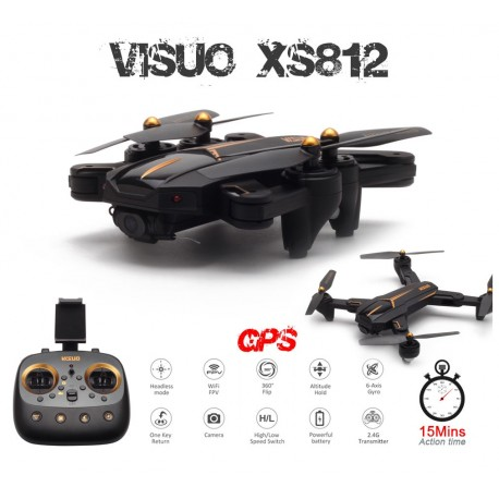 Drone VISUO XS812 Battle Shark GPS FPV 5.8GHz - Dobrável