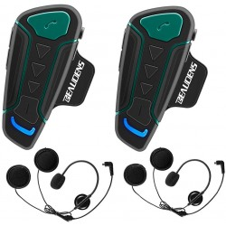 Kit de 2 Intercomunicadores Moto BEAUDENS WT003 Bluetooth FM