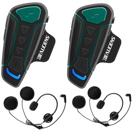 Kit de 2 Intercomunicadores Moto BEAUDENS WT003 Bluetooth FM