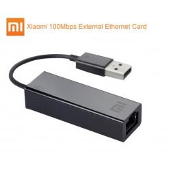 Xiaomi Adaptador USB 2.0 para RJ45 100 Mbps Compatível com Mi Box 3/S e PC