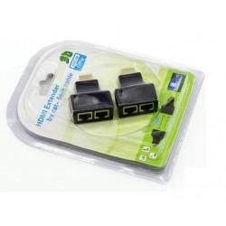 Extensor HDMI até 30 Metros via Cabo LAN Ethernet RJ45  Cat6