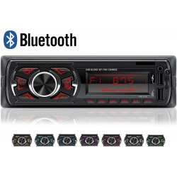 Auto Rádio RK-538 Bluetooth USB SD AUX MP3 | 7 cores