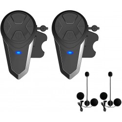 Pack de 2 Intercomunicadores Moto Bluetooth FM para Capacete BT-S3