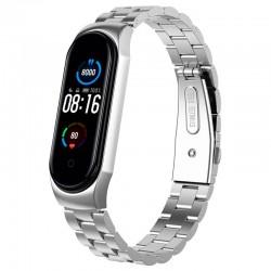Bracelete para Xiaomi Mi Band 5 Elos Metálicos