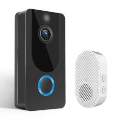 Vídeo Porteiro Inteligente ESCAM V7 IP WiFi com bateria e campainha