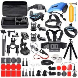 Kit de acessórios 53 peças para câmara acção