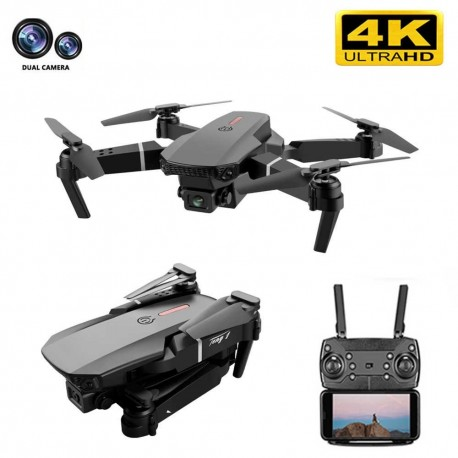 Drone E88 Pro FPV WiFi 4K com dupla câmara, 3 baterias e mala de transporte