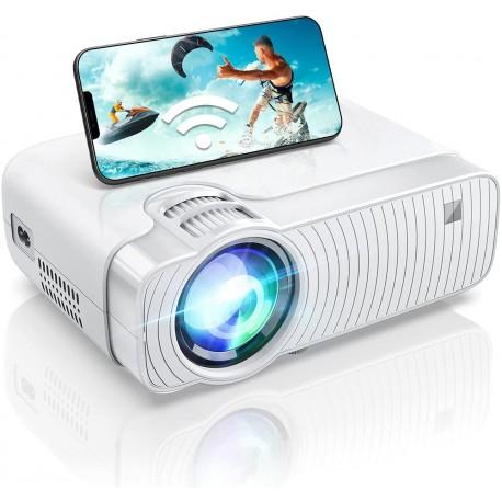Projetor LED ABOX GC357 WiFi 6000 Lumens HD